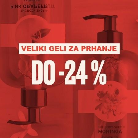Veliki geli za prhanje do -24 %