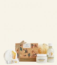 Veliko darilno pakiranje Mandljevo mleko & med