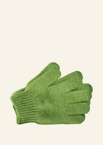 Rokavice za umivanje zelene